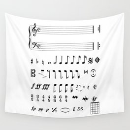 Musical Notation Wall Tapestry