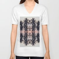 palm tree V-neck T-shirts featuring palm tree by Maria Fernanda Furtado