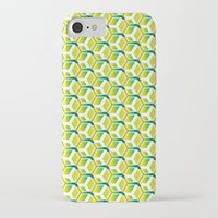 green pattern iPhone & iPod Cases featuring pattern green by colli13designs