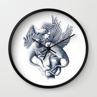 breathe Wall Clocks featuring Breathe by Norman Duenas