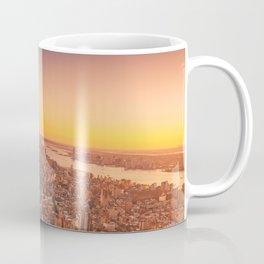 New York City Sunset Skyline Coffee Mug