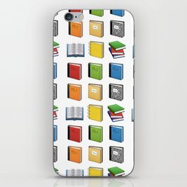 Book Emoji Pattern iPhone Skin