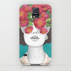 The optimist // rose tinted glasses Galaxy S5 Slim Case