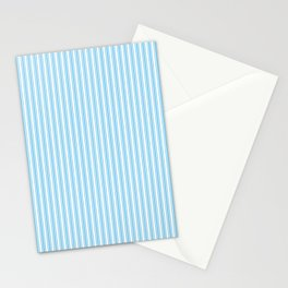 Classic Small Blue Sky Pastel Blue French Mattress Ticking Double Stripes Stationery Cards