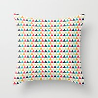 triangle Throw Pillows featuring triangle by Sébastien BOUVIER