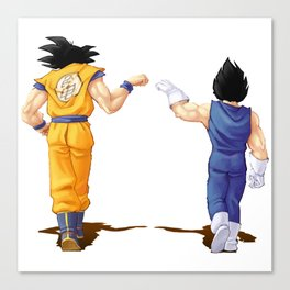 Fan Art Goku and Vegeta friends Canvas Print