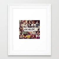 ashton irwin Framed Art Prints featuring Irwin Ashton // Collage by Fan_Girl_Designs
