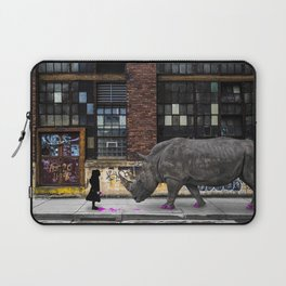 Real Rhinos Wear Pink Laptop Sleeve