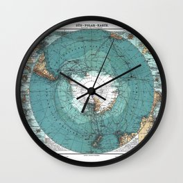 Antarctica Vintage map Wall Clock