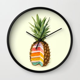 PINEAPPLE CAKE Wall Clock