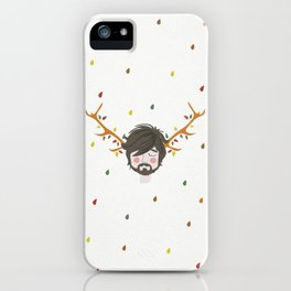 The Man With The Antlers iPhone Case
