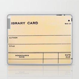 Library Card BSS 28 Laptop & iPad Skin