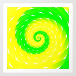 rotation spiral Art Print