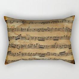 Grunge Sheet Music Music-lover's Design Rectangular Pillow