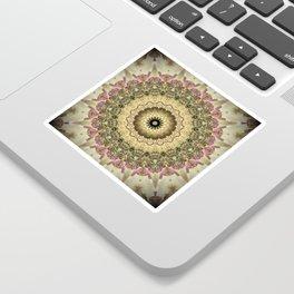 Vintage Gold Pink Mandala Design Sticker