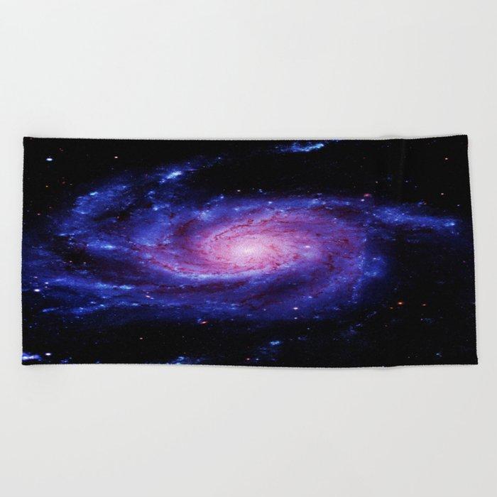 Spiral gAlAxy : Purple Blue Beach Towel