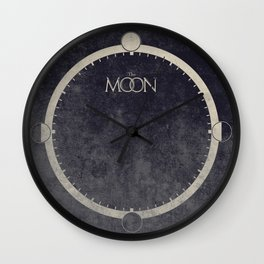 Lunar Phases Moon Cycles Wall Clock