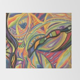 Abstract Moods Throw Blanket