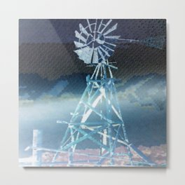 """"""" Windmill At Dawn """" Metal Print"""