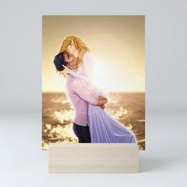 Feyre and Rhysand - A Romantic Sunset Mini Art Print