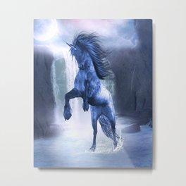 Blue Unicorn 1 Metal Print