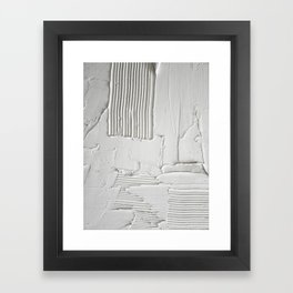 Relief [3]: an abstract, textured piece in white by Alyssa Hamilton Art  Framed Art Print