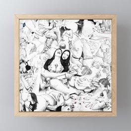 sex collage Framed Mini Art Print