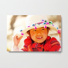 Little child indigenous of the north of Argentina Metal Print