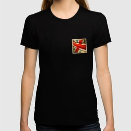 Sticker with UK flag T-shirt