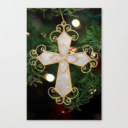 Christmas Cross Canvas Print