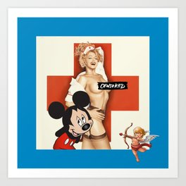 Censored Art Print