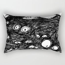 Monster Eyes: Nightmares Are REAL Rectangular Pillow