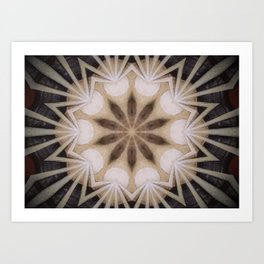 """Moon Beams Mandala (created from the painting """"Shine Your Light"""") Art Print"""