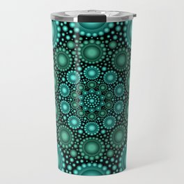 Turquoise & Green Circle Mandala Travel Mug