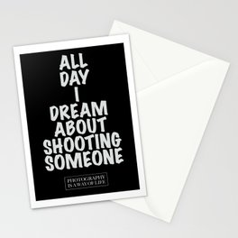 Photography life 1 , black edition - by Brian Vegas Stationery Cards