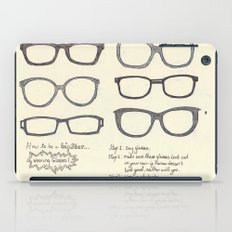 Hipsters Wear Frames, illustrated iPad Case