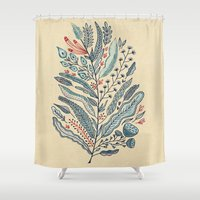 leaf Shower Curtains featuring Turning Over A New Leaf by Monica Gifford