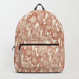 just chickens rust pearl Backpack