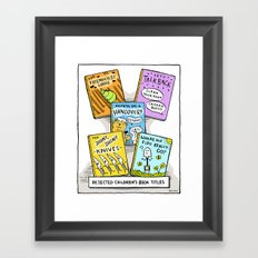 The Daily Drawing Comic – Rejected Children's Books Framed Art Print