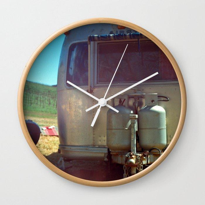 vineyard airstream Wall Clock by impactentertainment
