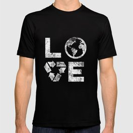 Love Earth Day 90s Vintage Recycling Kids or Teacher  T-shirt