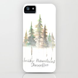 Smoky Mountains Tennessee Watercolor iPhone Case