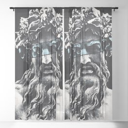 King of the Gods Sheer Curtain