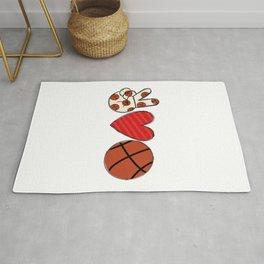 Peace Love Basketball Rug