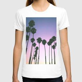 Palm Tree Purple Sunset T-shirt