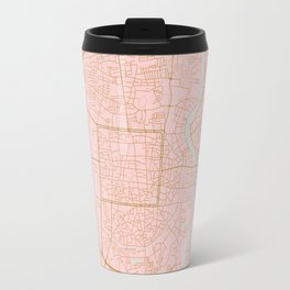 Pink and gold Chiang Mai map, Thailand Travel Mug