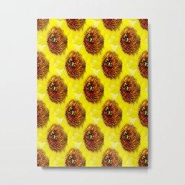 The Pollinator Tile Metal Print