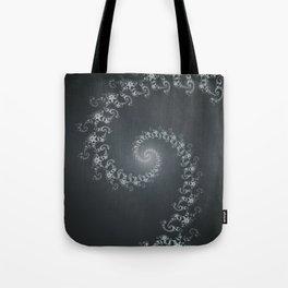 Follow the White Light - Fractal Art Tote Bag