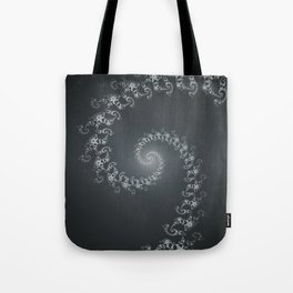 Follow the White Light - Fractal Art Tote Bag