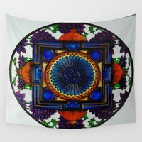 spiritual Wall Tapestries featuring spiritual mandala by Glass affairS